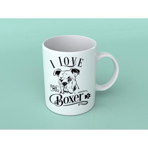 I Love Dog Bögre
